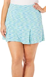 96cdd6803be Reel Legends Plus Keep It Cool Space Dye Knit Skort