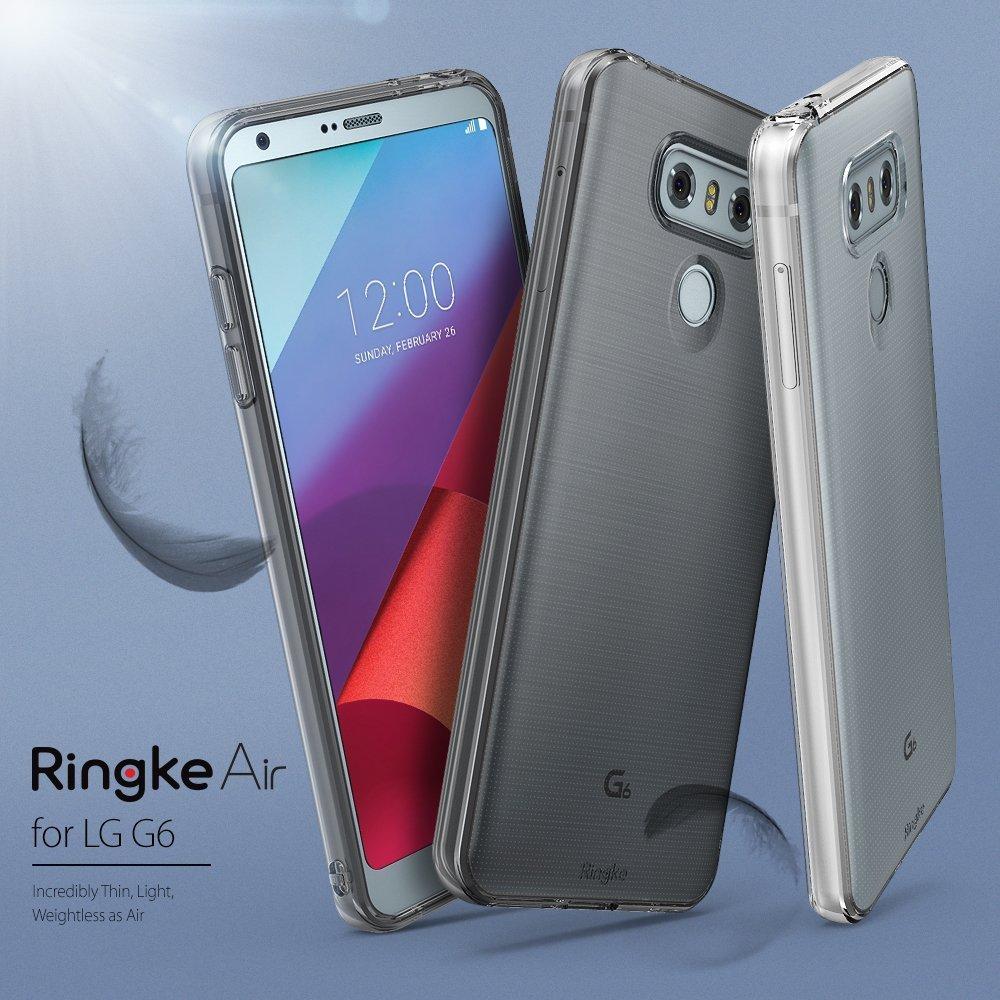 Ringke Funda LG G6 / G6 Plus [Air] Carcasa Protectora Resistente a los arañazos de TPU Flexible Suave y Transparente Extremadamente Ligera y Fina: ...