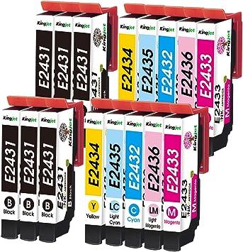 Kingjet 16 Pack 24xl Kompatibel Mit Epson 24 24 Xl Multipack Druckerpatronen Für Epson Expression Photo Xp 55 Xp 750 Xp 760 Xp 850 Xp 860 Xp 950 Xp 960 6 Schwarz 2 Cyan 2 Magenta 2 Gelb 2 Lc 2 Lm Bürobedarf Schreibwaren