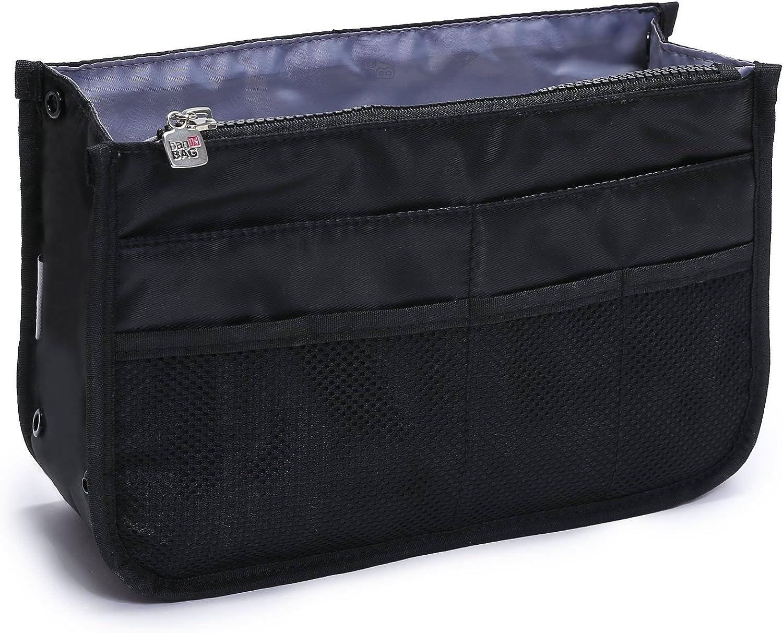 Portable Felt Fabric Purse Handbag Organizer Bag W// Multi Pocket Insert Liner