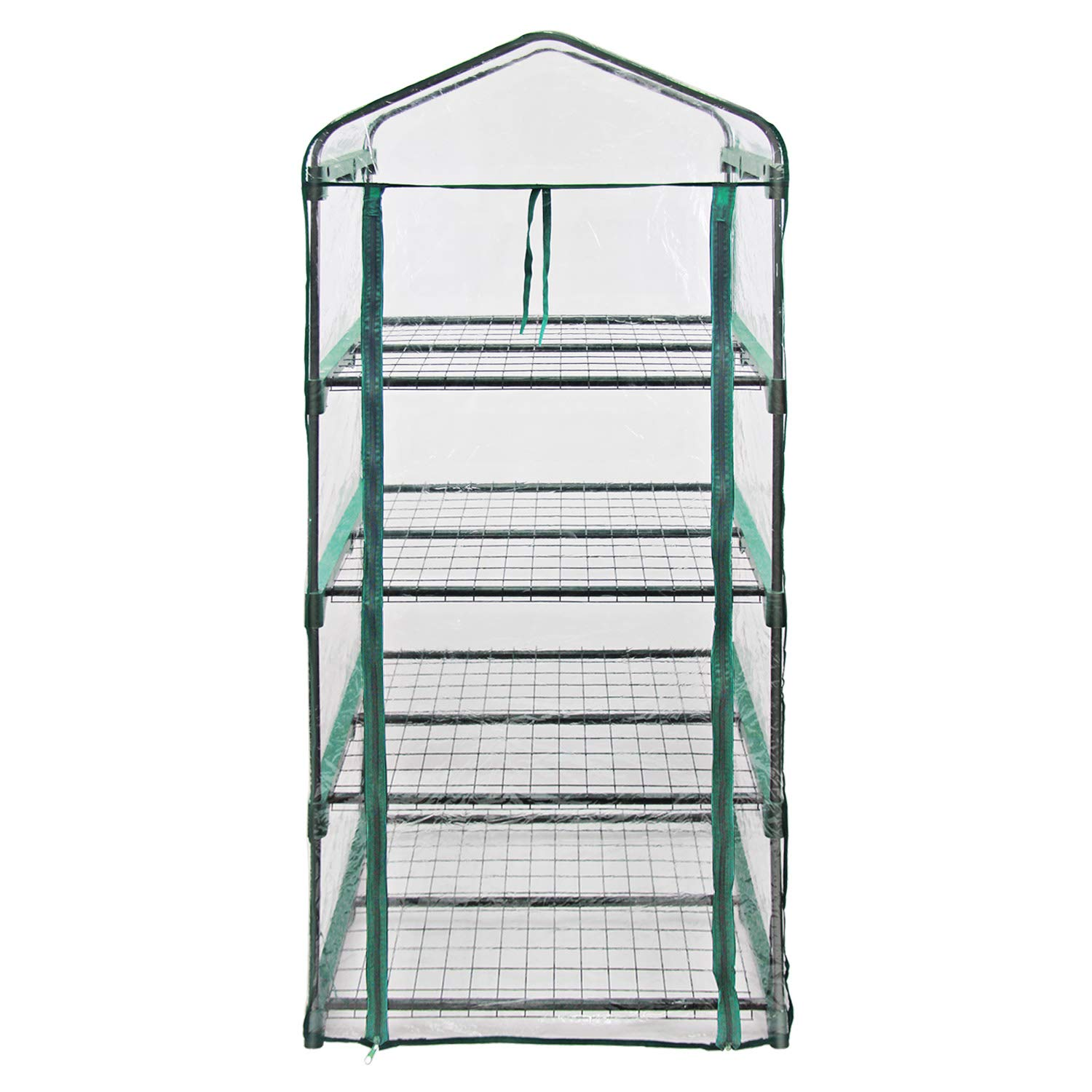 MKGreen Green House Four Tier PVC Plastic and Steel Pipe Mini Outdoor Garden by MKGreen