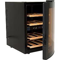 H.Koenig AGE12WV Cantinetta per 12 Bottiglie, 34L, 2zone di temperatura, 4 ripiani, Temperatura 8-18°C, Silenziosa 74DB, Classe B