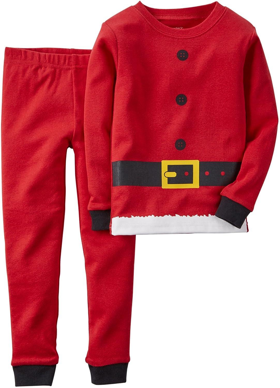 amazoncom carters boys santa christmas 2 piece snug fit cotton pajamas clothing - Santa And Christmas 2