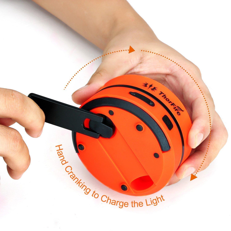 Lanterna da Campeggio Torcia Ecologica Pieghevole Ricarica con USB & Dinamo a Manovella Lampada Portatile Caricare per Cellulare in Caso Emergenza CL01