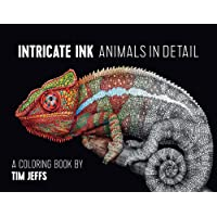 Intricate Ink: Animals in Detail: A Coloring Book by Tim Jeffs