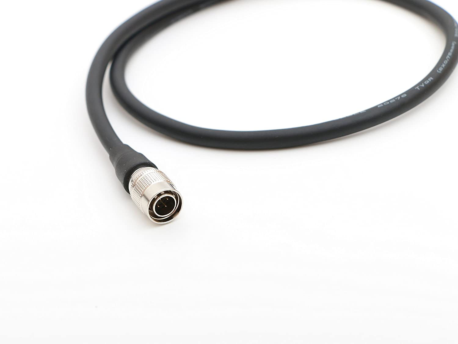 Male D-tap to 4pin Hirose Male Power Cable 1.6ft 50cm for ZAXCOM Sound Devices