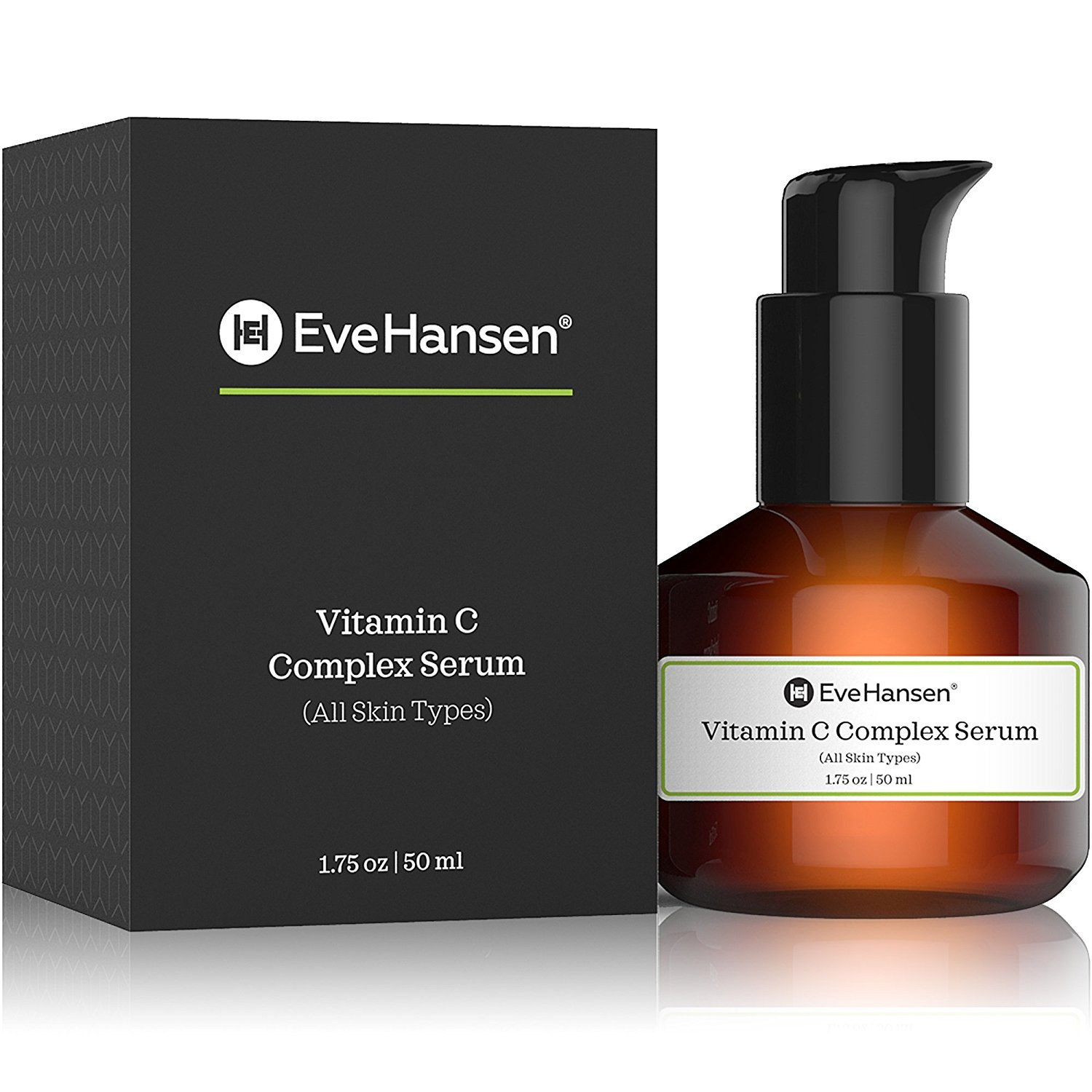 Vitamin C Serum with Vitamin E & Ferulic Acid by Eve Hansen - Natural and Pure Anti Aging Serum that Protects Against Sun Damage and Wrinkles. 2 Ounces.