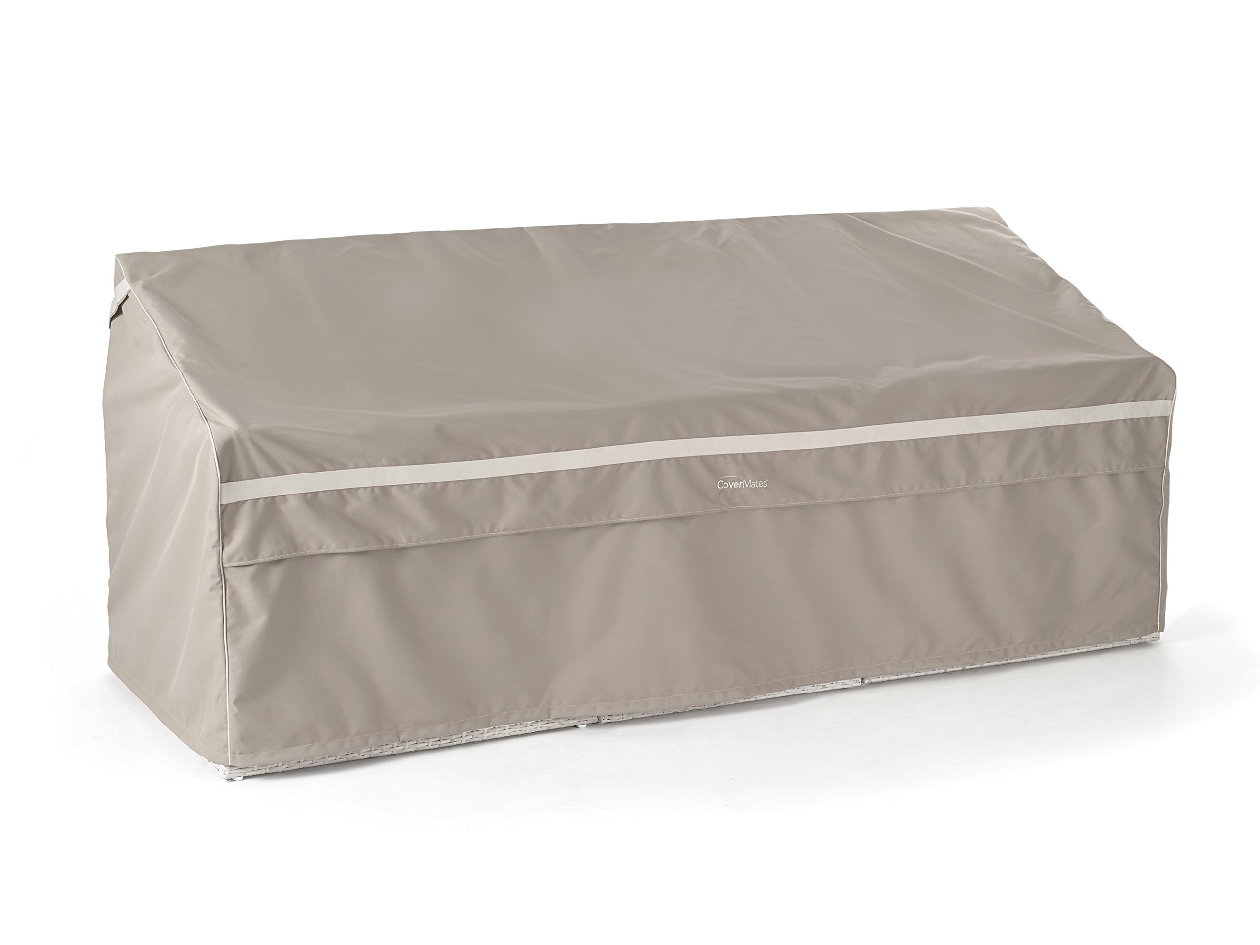 CoverMates – Outdoor Patio Sofa Cover – 94W x 40D x 40H – Prestige Collection – 7 YR Warranty – Year Around Protection - Clay by CoverMates