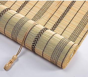 Amazon De Bambusvorhang Bambus Rollo Bambus Vorhang Mit Seitenzug