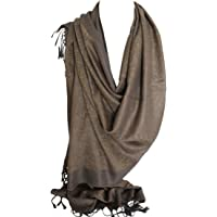 Intricately Woven Two Sided Reversible Paisley & Floral Print Pashmina Feel Scarves Wrap Shawl Head Scarf