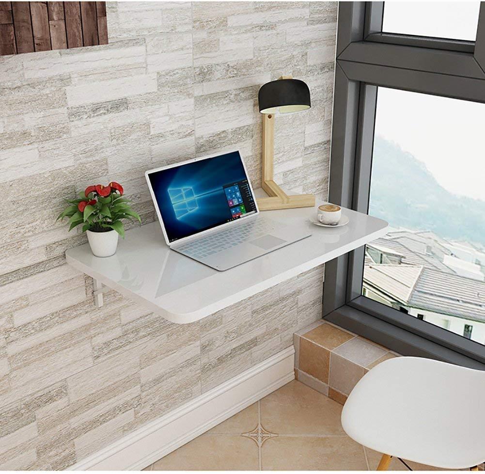 NewbieBoom-Lapdesk drop-down väggbord fällbart matbord arbetsrum skrivbord bladformat miljöskydd bord, tjocklek 2,5 cm, vit (storlek: 100 x 50 cm) 90x40cm 100x40cm