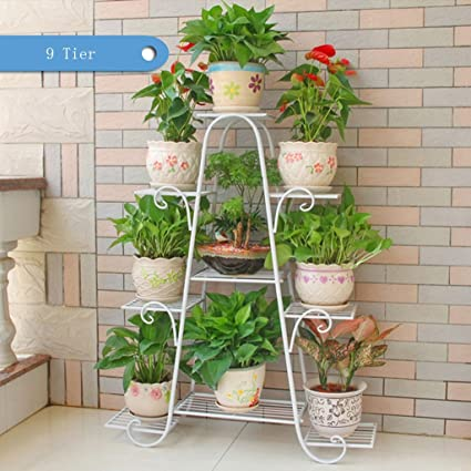 Charmant Garden Flower Stand Multilayer Flower Racks Iron Metal Standing Shelf For  Plant Flower Pot Stable