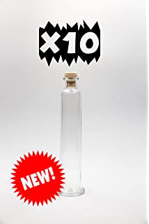 nr 10 botellas Cilindro 200 ml de vidrio blanco tapón n°46
