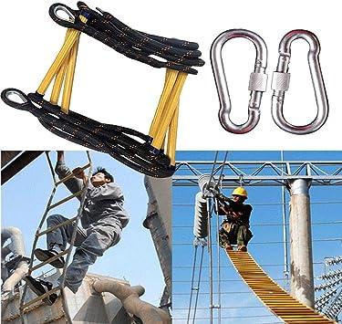 LATG Escalera De Cuerda, Escaleras De Emergencia De Resina De Escalera, para Niños Y Adultos Escalera De Entrenamiento Escalera De Cuerda para Niños con Peldaños De Madera Ideal para Escalada: Amazon.es: Deportes