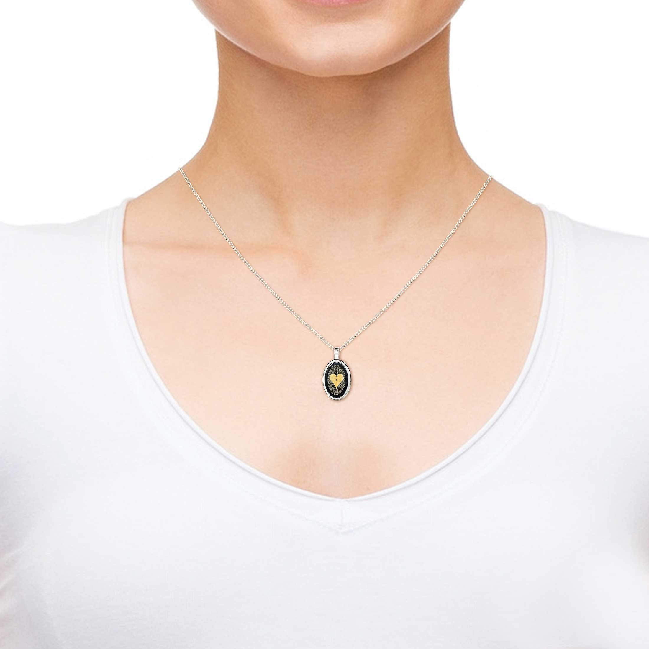 925 Sterling Silver Love Necklace Inscribed with I Love You in 120 Languages on Onyx Pendant, 18'' Chain by Nano Jewelry (Image #5)