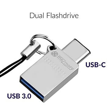 2 en 1 Memoria USB Flash Drive Dual de 32GB USB-C & USB-A 3.0
