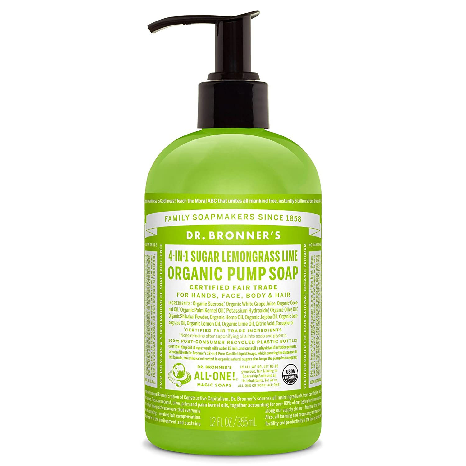Dr. Bronner's 4-in-1 Organic Sugar Soap