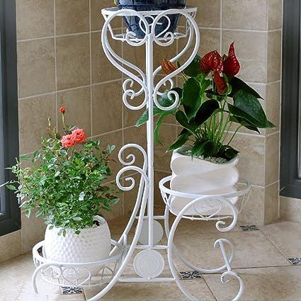 LCPG Estantes para Flores Balcón Sala de Estar Hierro Planta Multicapa Suculentas Estante para macetas Plantas