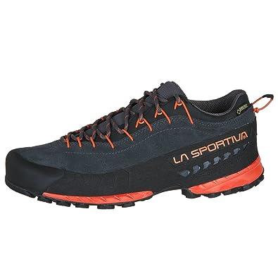 La Sportiva TX 3 Gtx® Blau-Rot, Herren Gore-Tex® Hiking- & Approach-Schuh, Größe EU 40.5 - Farbe Blue-Flame Herren Gore-Tex® Hiking- & Approach-Schuh, Blue - Flame, Größe 40.5 - Blau-Rot