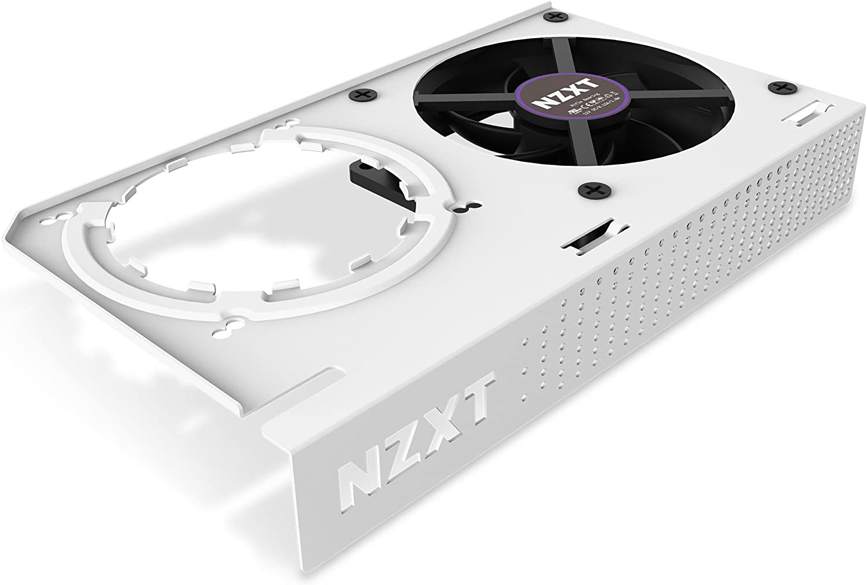 NZXT KRAKEN G12 - Kit de montaje de GPU para refrigeradores líquidos todo en uno de la serie Kraken X - Compatibilidad con GPU AMD y NVIDIA - Refrigeración activa para VRM - Blanco