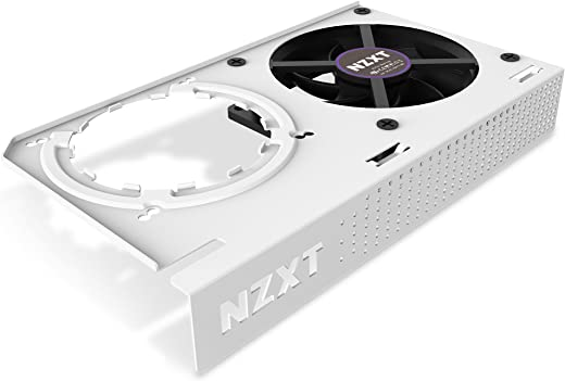 NZXT Kraken G12 - GPU Mounting Kit for Kraken X Series AIO - Enhanced GPU Cooling - AMD and NVIDIA GPU Compatibility - Active Cooling for VRM, White