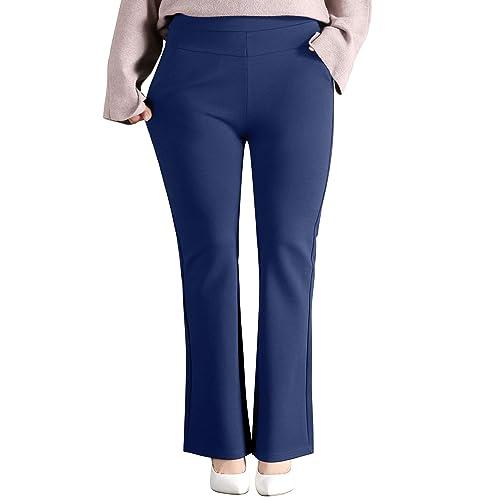 Women S Plus Size Dress Pants Amazon Com