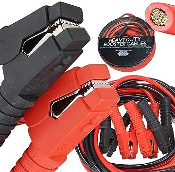 Amazon Com Voilamart Auto Jumper Cables 2 0 Gauge 3000amp 20ft W Carry Bag Instruction Slip Commercial Grade Automotive Booster Cables Heavy Duty For Car Van Truck Automotive