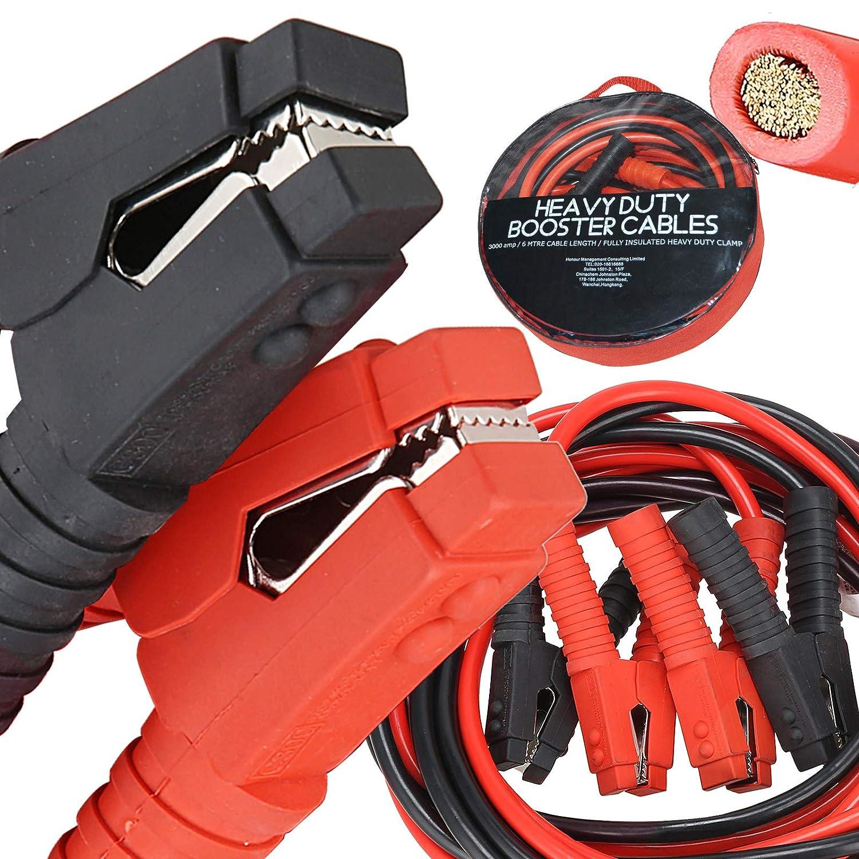 Voilamart Auto Jumper Cables 2/0 Gauge 3000AMP 20Ft w/Carry Bag, Instruction Slip, Commercial Grade Automotive Booster Cables, Heavy Duty for Car Van Truck
