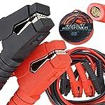 Voilamart Auto Jumper Cables 2/0 Gauge 3000AMP 20Ft w/Carry Bag, Instruction Slip, Commercial Grade Automotive Booster...