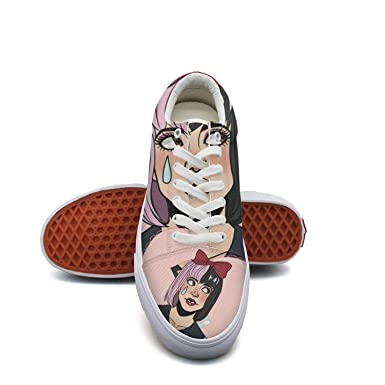 37974cfc6f82 Amazon.com  Melanie Martinez Cry Baby Poster Sneaker Loafers for Men Canvas  Upper Skate Shoes Slip-on Cut Low Top Lace up Flat Casual  Clothing