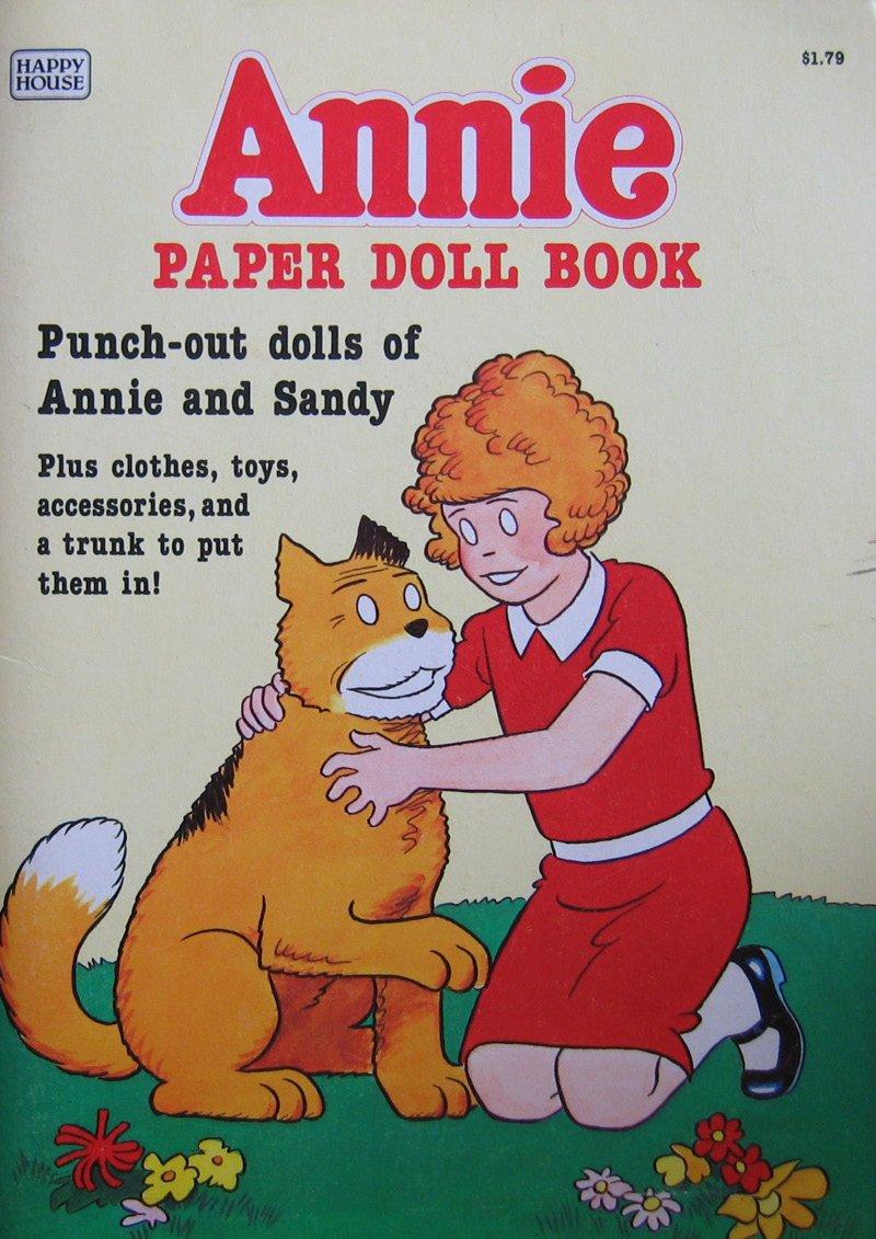 Little Orphan ANNIE PAPER DOLL Book UNCUT w Punch Out Annie & Sandy Dolls (1982)