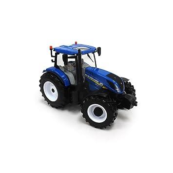 Tomy Farm - Tractor de Juguete New Holland T6 180 New, Escala 1:32 ...