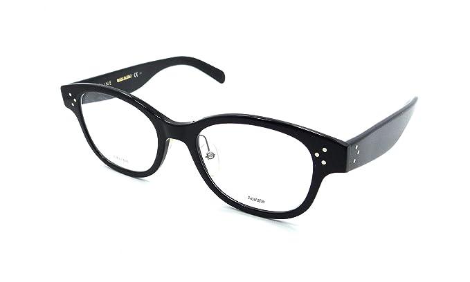 Celine Rx Eyeglasses Frames CL 41437/F 06Z 51-20-150 Black Italy ...