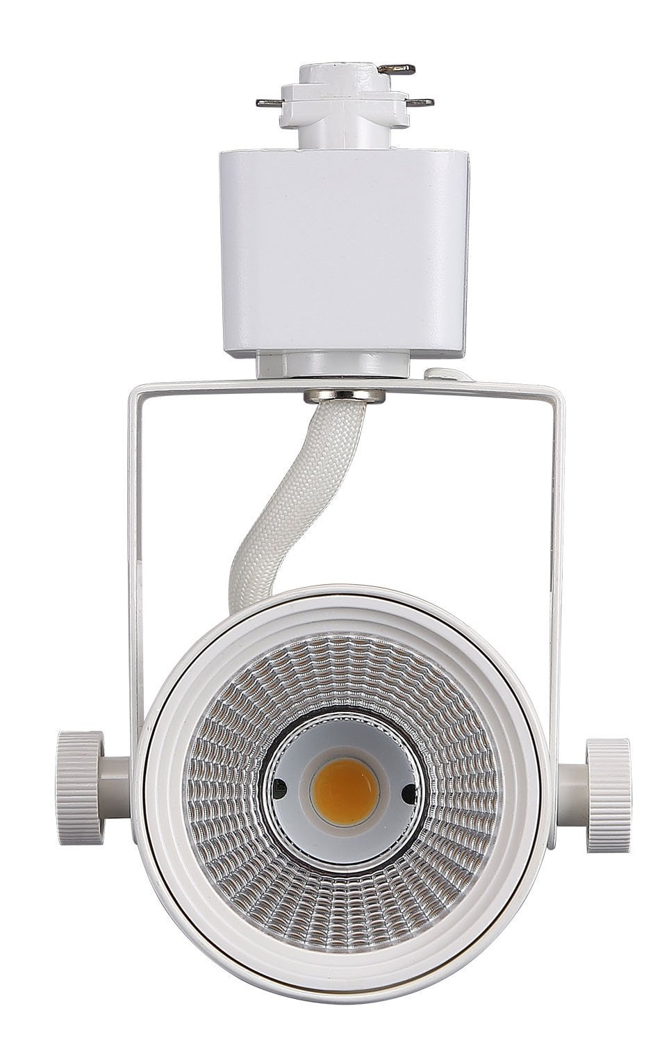 Cloudy Bay LED Track Light Head,CRI90+ Warm White Dimmable,Adjustable Tilt Angle Track Lighting Fixture,8W 40° Angle for Accent Retail,White Finish,Halo Type