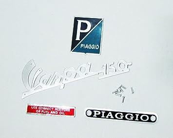 Vespa 150 Emblema Kit Piaggio Sprint VBB VBA vnx: Amazon.es: Coche y moto