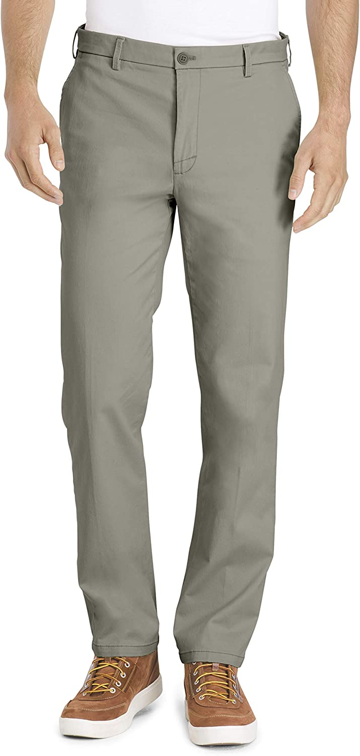 IZOD Men's Saltwater Stretch Flat Front Straight Fit Chino Pant at  Men's Clothing store
