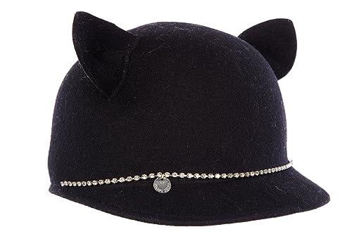 Armani Jeans cappello berretto donna cat hear strass nero  Amazon.it ... 1e5f506d0420