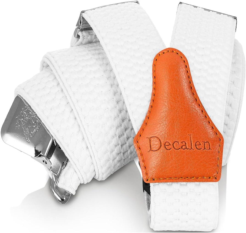 Decalen Tirantes para caballero con clips extra fuerte amplio 40 mm Adjustable Elastics Y forma