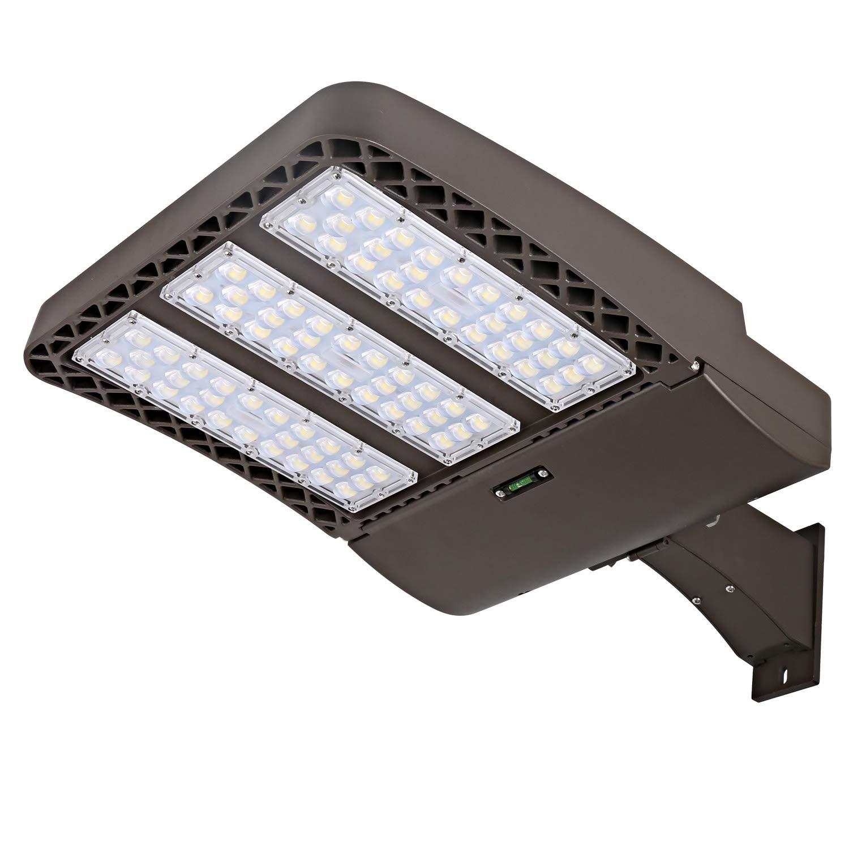 Hykolity 300W LED Parking Lot Light, LED Shoebox Fixture, 36000lm 5700k  Photocell Optional Outdoor Waterproof Pole Mount light for Large Area  Lighting ...