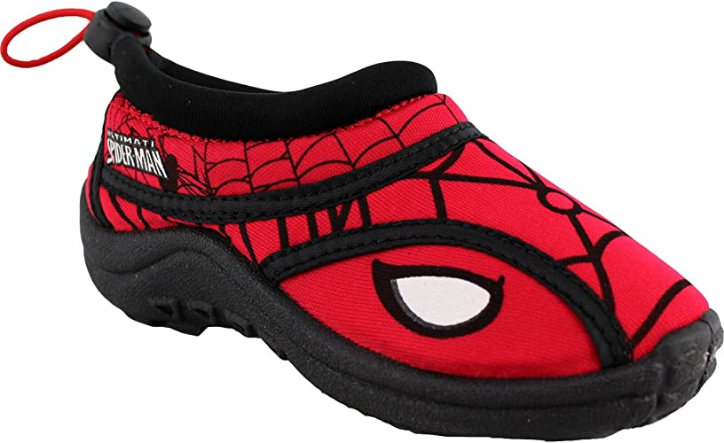 Spiderman Slip On Water Shoes Red Toddler//Little Kid