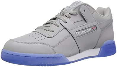 09c2ea03cea Reebok Men s Workout Plus Sneaker Stark Grey White ice 8 ...