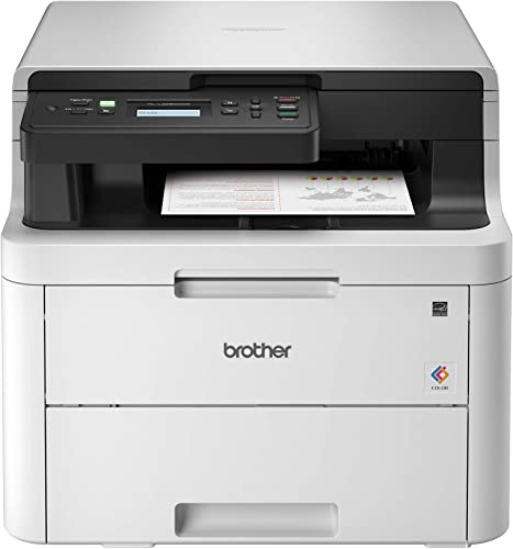 Brother HL-L3290CDW Compact Digital Color Printer Providing Laser Printer Quality Results with Convenient Flatbed Copy Scan, Wireless Printing and Duplex Printing, Amazon Dash Replenishment Ready