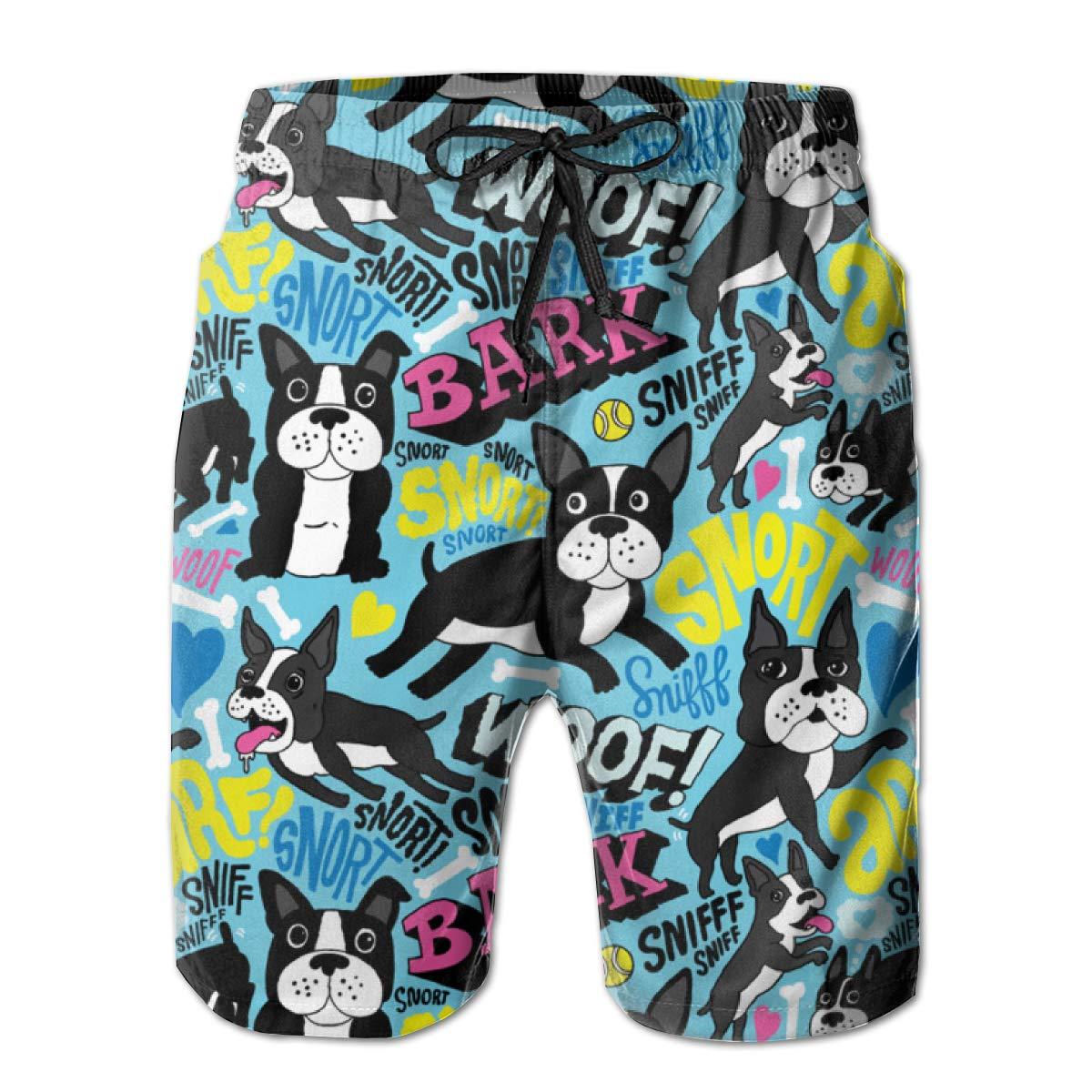 XUJ YOGA Men Summer Swim Trunks Athletic Surfing Shorts Elastic Waistband Swimwear