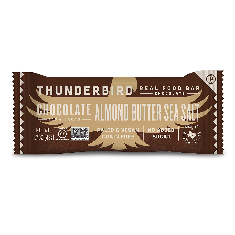 Thunderbird Paleo and Vegan Hiking Food Snacks - Real Food Energy Paleo Bar - Fruit & Nutrition Nut Bars - No Added Sugar, Grain and Gluten Free, Non-GMO, 15 Pack (Chocolate Almond Butter Sea Salt)
