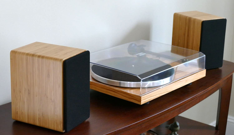 Peachtree Audio M25 Powered Speakers Pair Real Bamboo Speakers ...