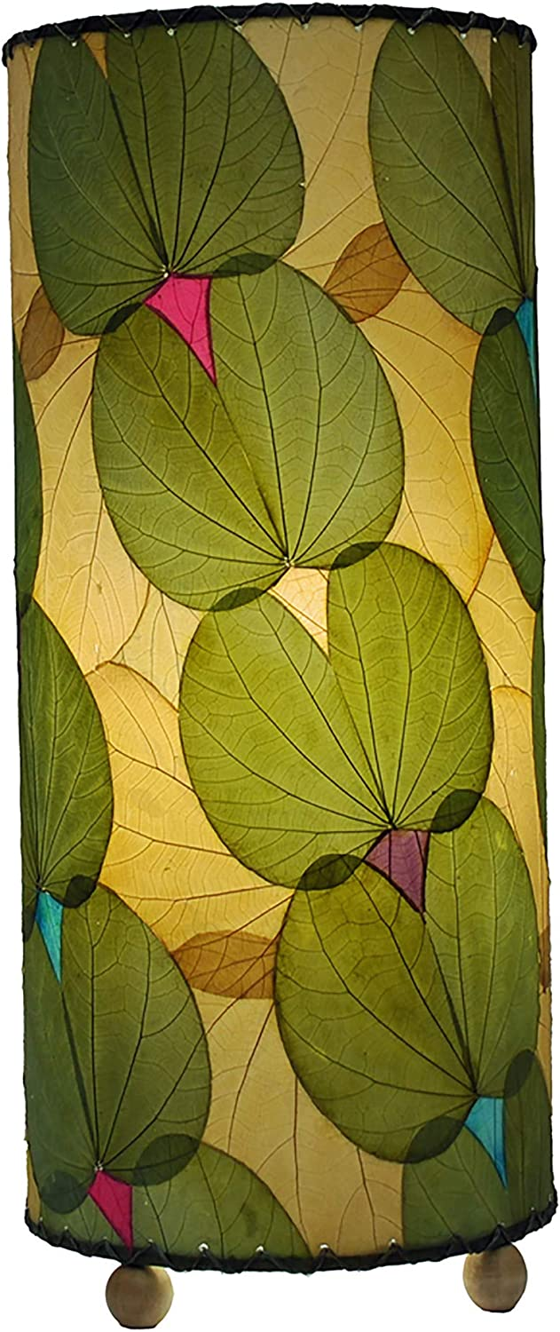 Eangee Home Design Outdoor Butterfly Table Lamp in Green – Shade Made From Real Cocoa Leaves (ol479 g)