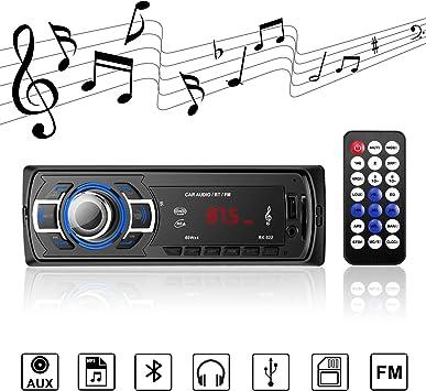 joli design vraie qualité achat original Autoradio Bluetooth autoradio stéréo numérique Radio de Voiture récepteur  Bluetooth Mains Libres avec télécommande récepteur USB/TF / AUX  Transmission ...