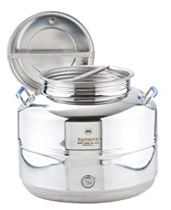 Sansone NSF Stainless Steel Water Dispenser with Spigot, 6.6 gallon, 25 Liters, Silver
