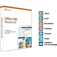 Microsoft Office 365 Personnel | 1 utilisateur | 1 an | PC ou Mac | téléchargement (envoi par la poste)