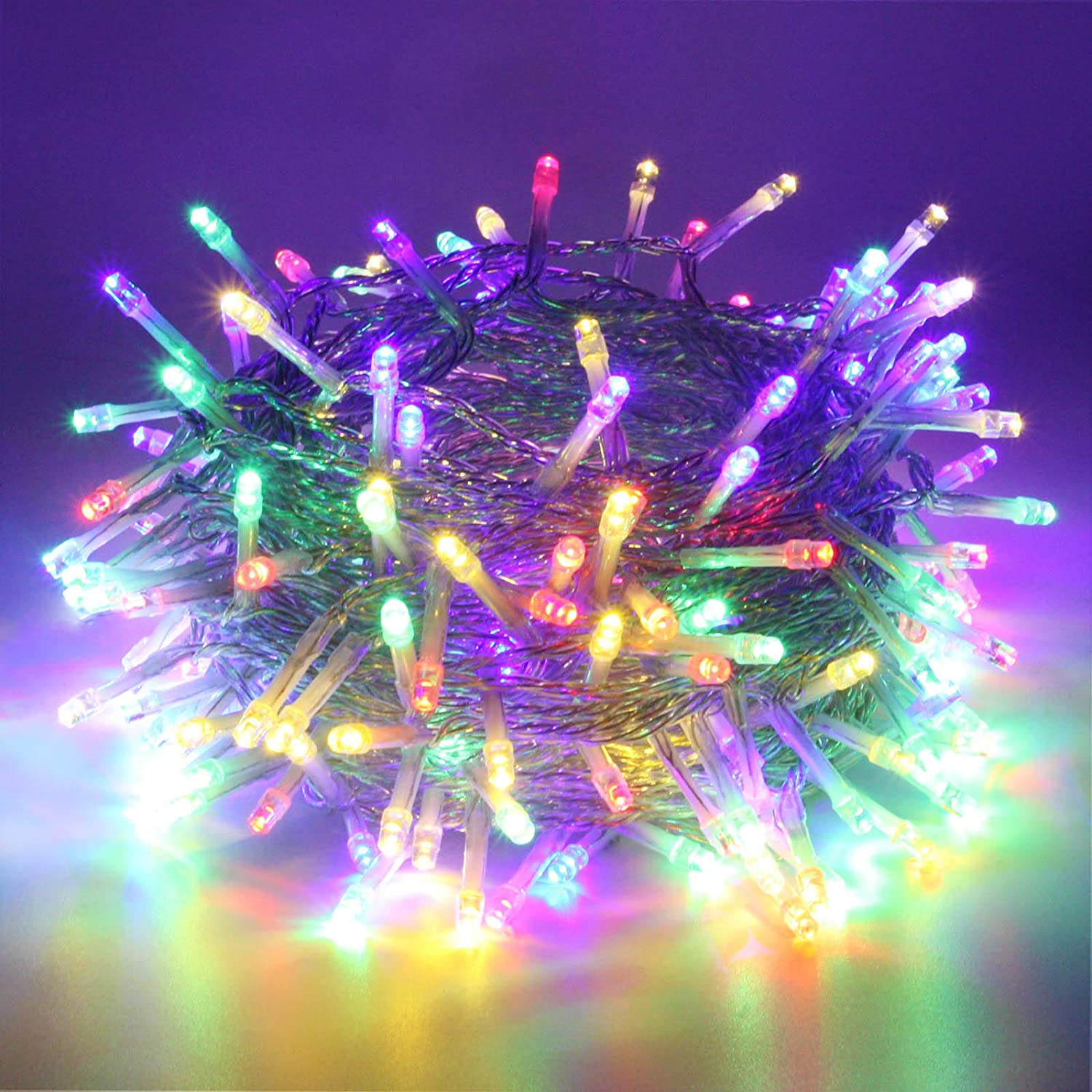 SANJICHA String Lights Indoor/Outdoor, Upgraded Super Bright Christmas Lights with 8 Modes, 66FT 200 LED Waterproof Decorative Lights for Christmas Tree Garden Patio Bedroom (Multicolor)